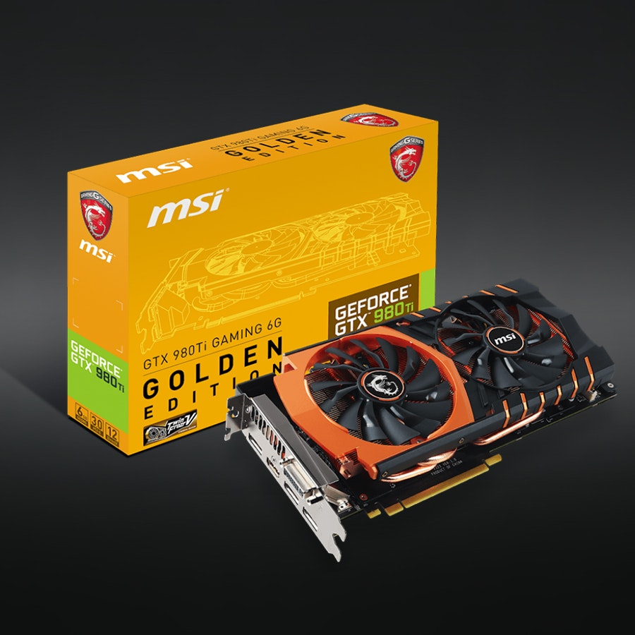 MSI GeForce GTX 980Ti Gaming 6G Golden Edition