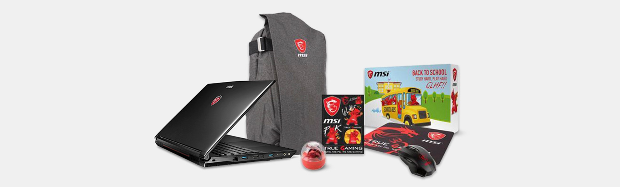 MSI GL Series Gaming Laptop Bundle