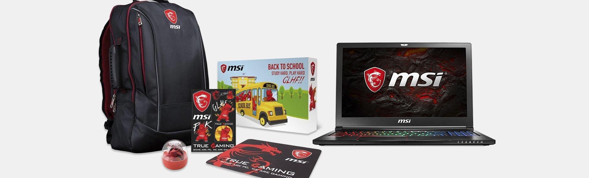 MSI GS63VR Stealth Pro Series Gaming Laptop Bundle