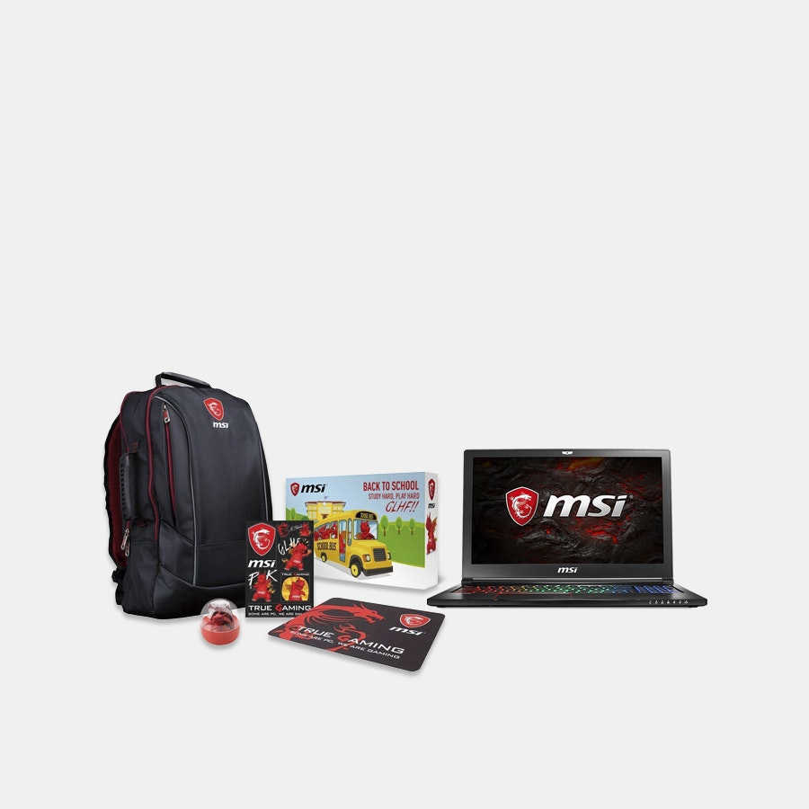 MSI GS63VR Stealth Pro Series Gaming Laptop Bundle