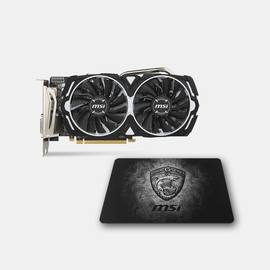 MSI Radeon RX 570 Armor 8G OC Graphics Card