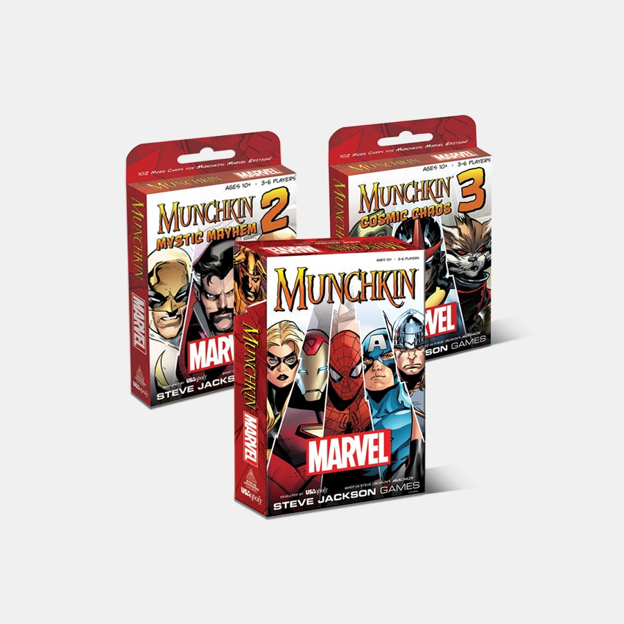 Munchkin Marvel 3 Cosmic Chaos Steve Jackson Expansion Card Game USAopoly Free S
