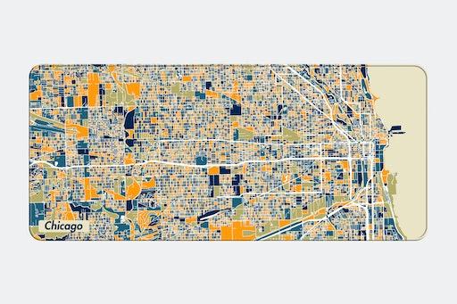 NANAMI DESIGN City Map Stitched-Edge Desk Mat