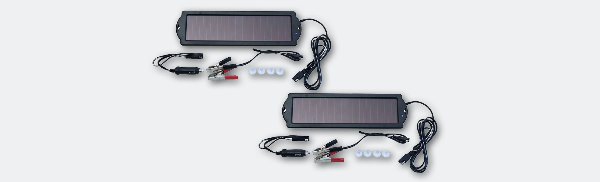 Nature Power Solar Panel Battery Maintainer 2-Pack