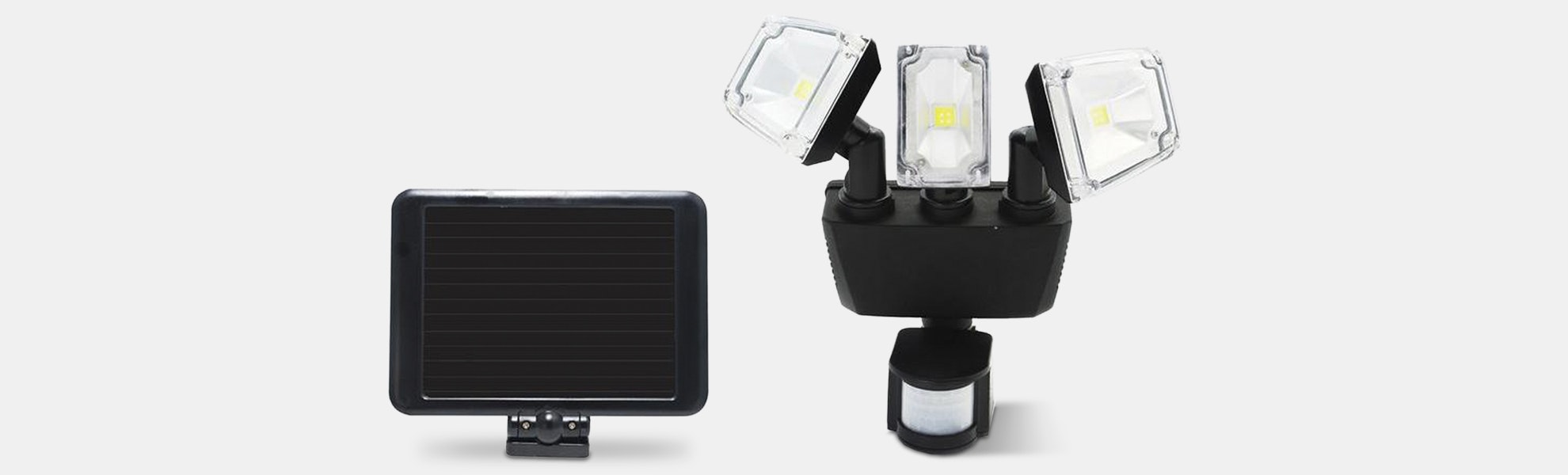 Nature Power Solar Security Triple Light 1200