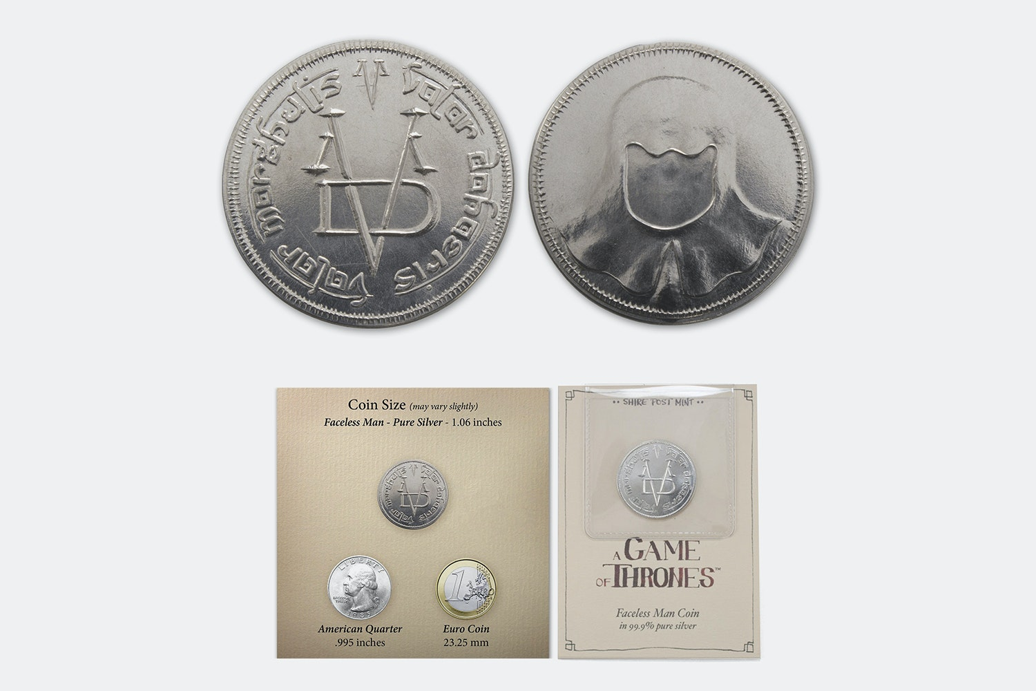 Game of Thrones Collectible Silver Coins (2-Pack)