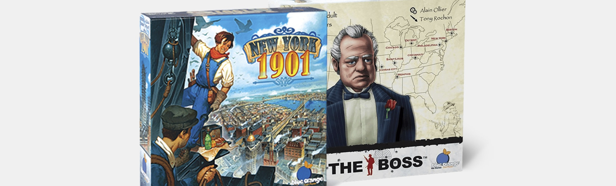 New York 1901 & The Boss Board Game Bundle