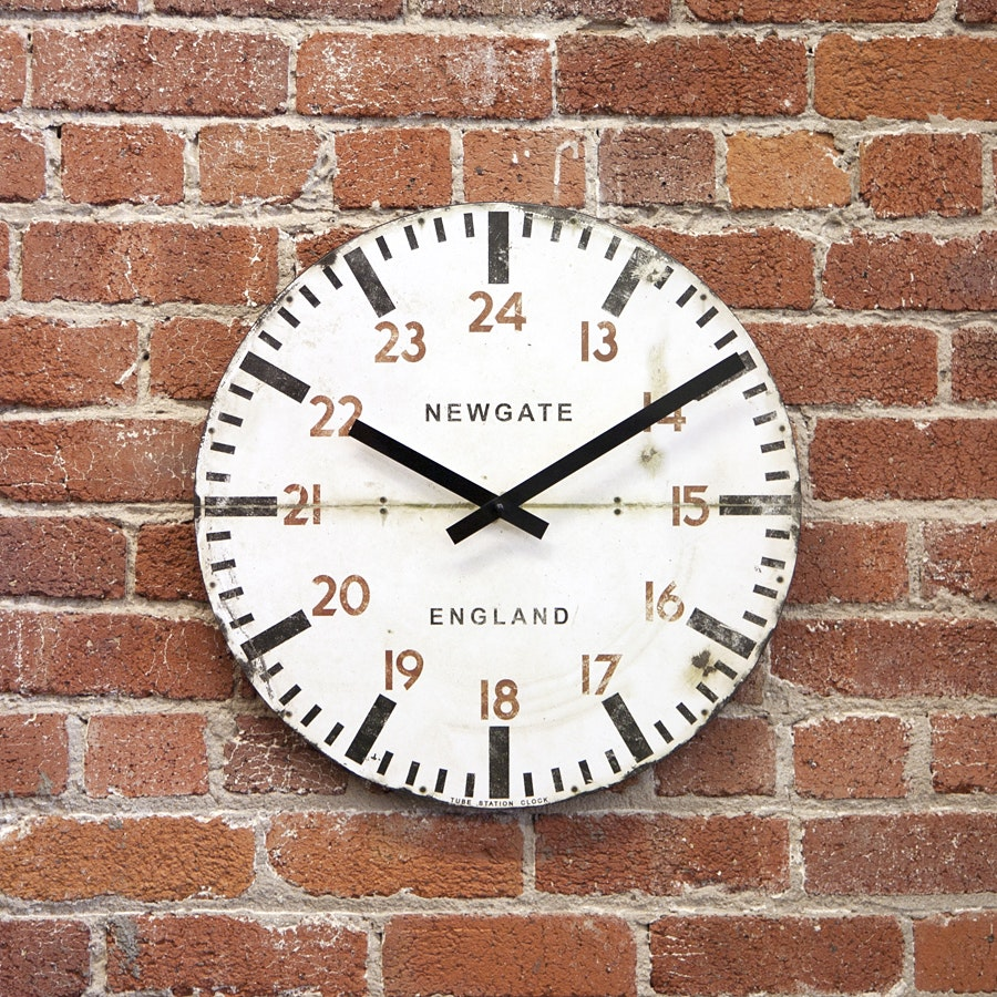 Newgate Tube Station Wall Clock