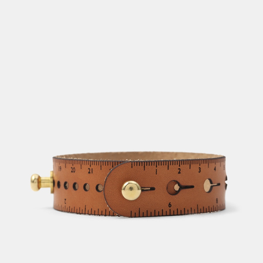 Nick Mankey Designs Leather Ruler Watch Strap