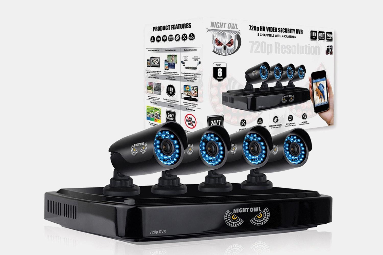 Night Owl 8-Channel 4-Camera HD DVR Security System