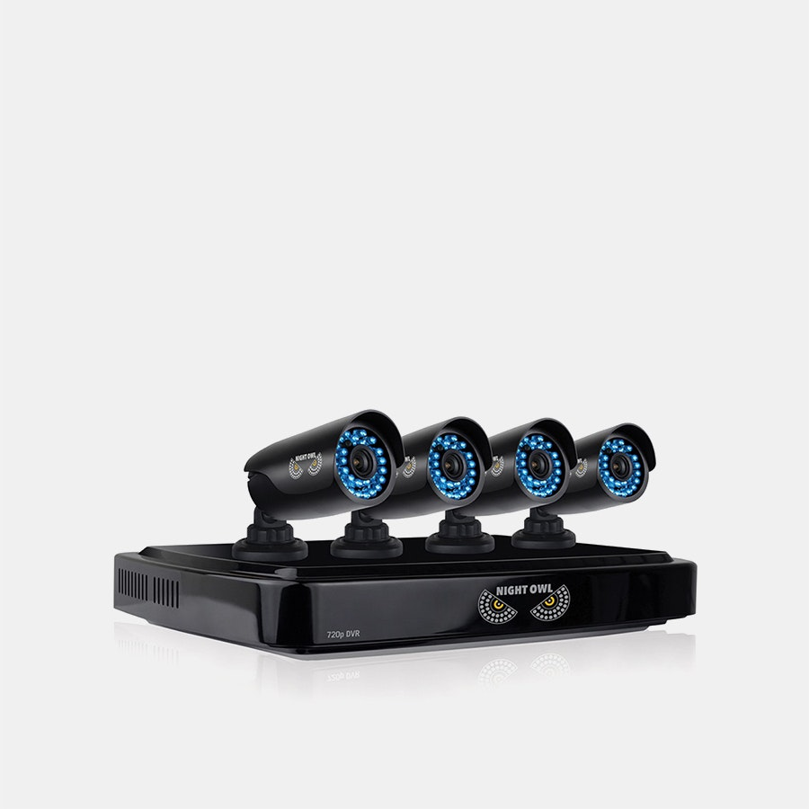 Night Owl 8-Channel 4-Camera HD DVR Security System