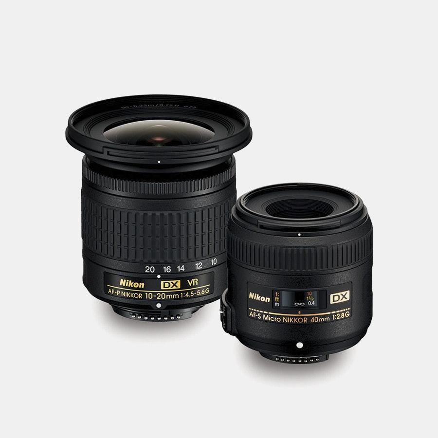 Nikon AF-P DX 10–20mm VR & AF-S DX 40mm Lens Kit