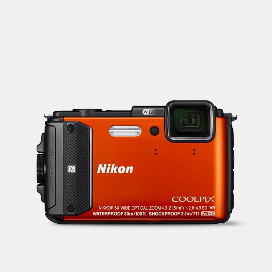 Nikon Coolpix AW130 Digital Camera (Orange)