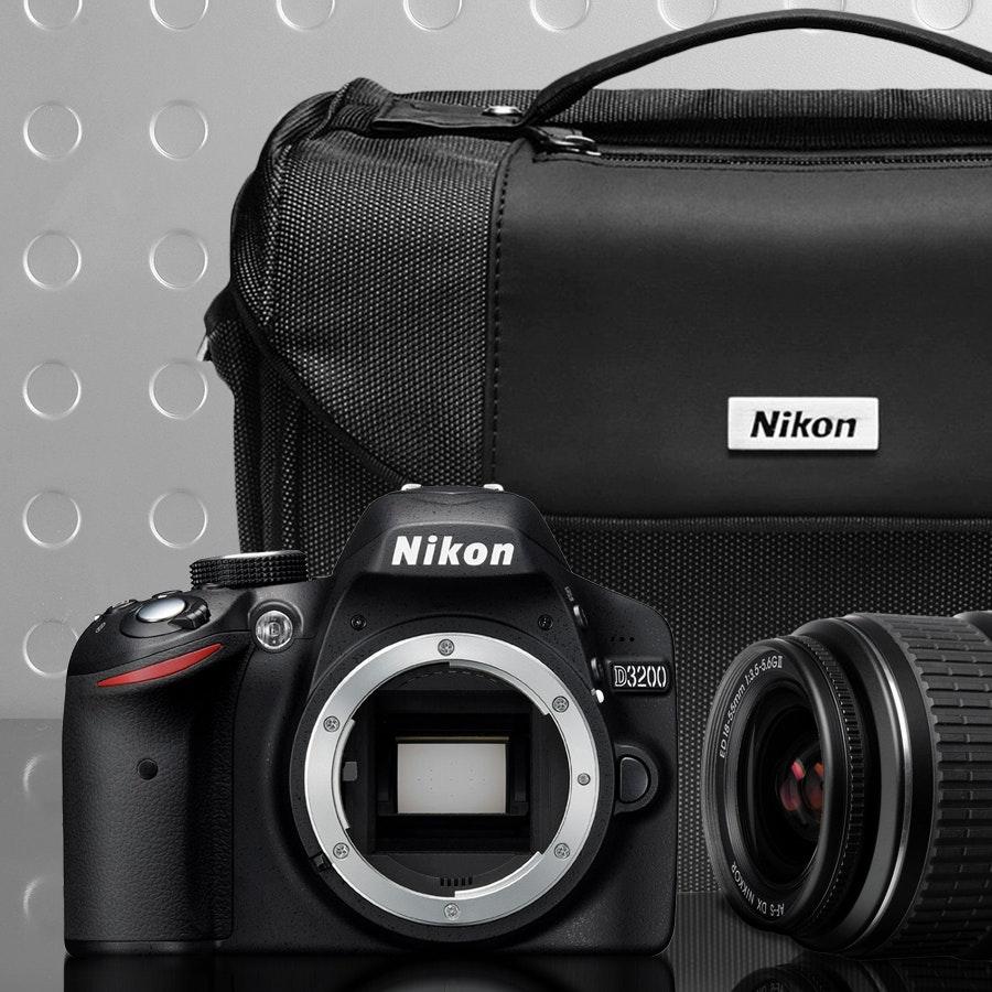 Nikon D3200 + 18-55mm (Non VR) Lens Bundle