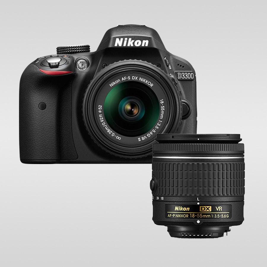 Nikon D3300 DSLR w/ 18-55mm AF-P VR Zoom Lens