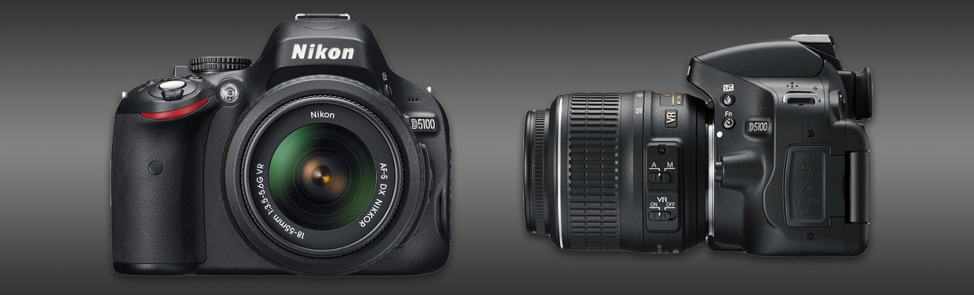 Nikon D5100 with 18-55mm VR lens