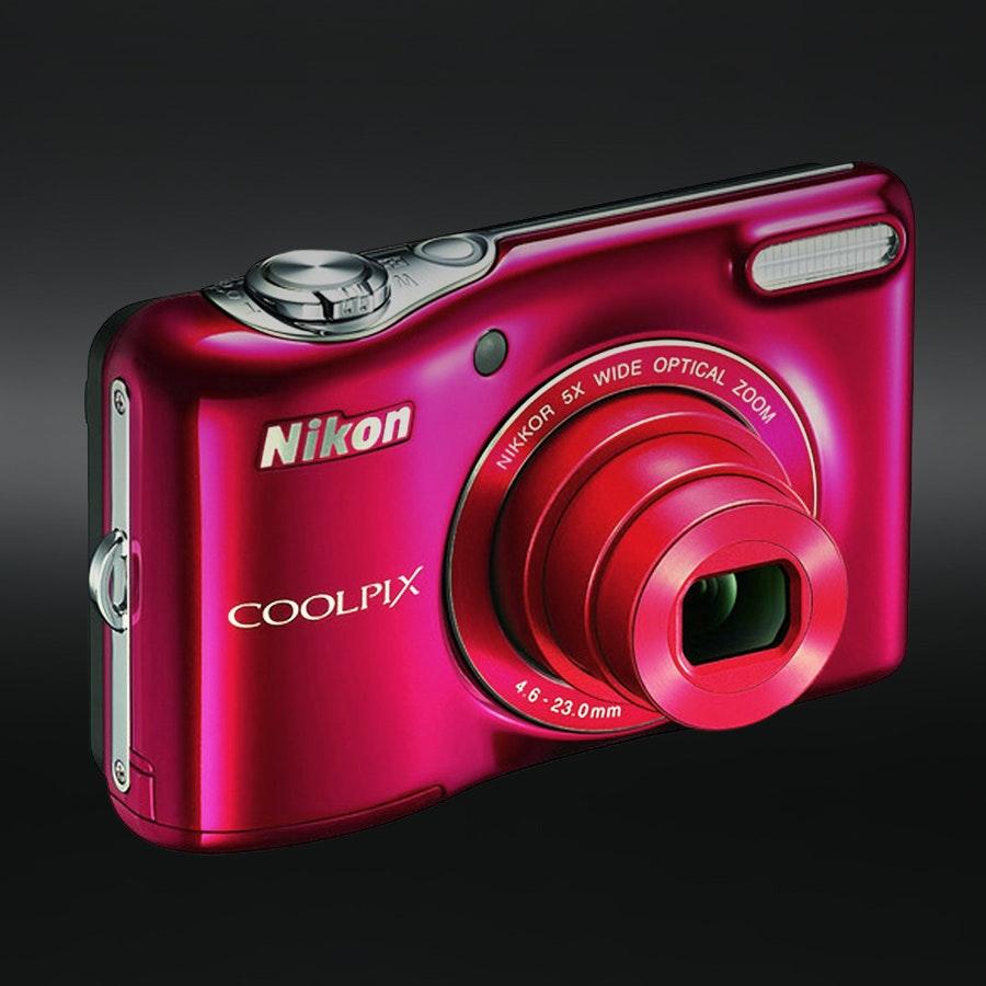 Nikon Coolpix L32 20.1MP Digital Camera w/ Bag