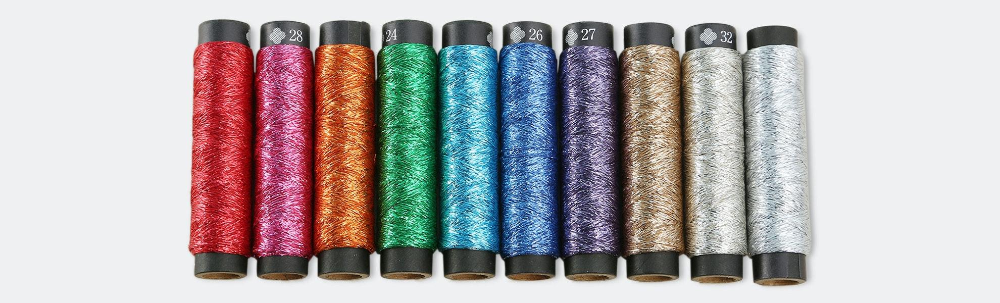 Nishikiito Metallic Embroidery Thread by Cosmo