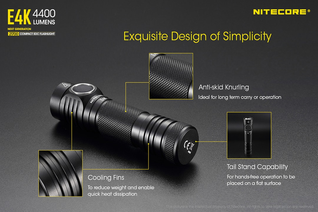 Nitecore E4K 4,400-Lumen EDC Flashlight