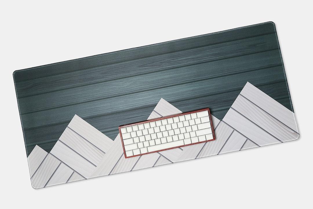 NovelKeys Woodgrain Desk/Mouse Mat