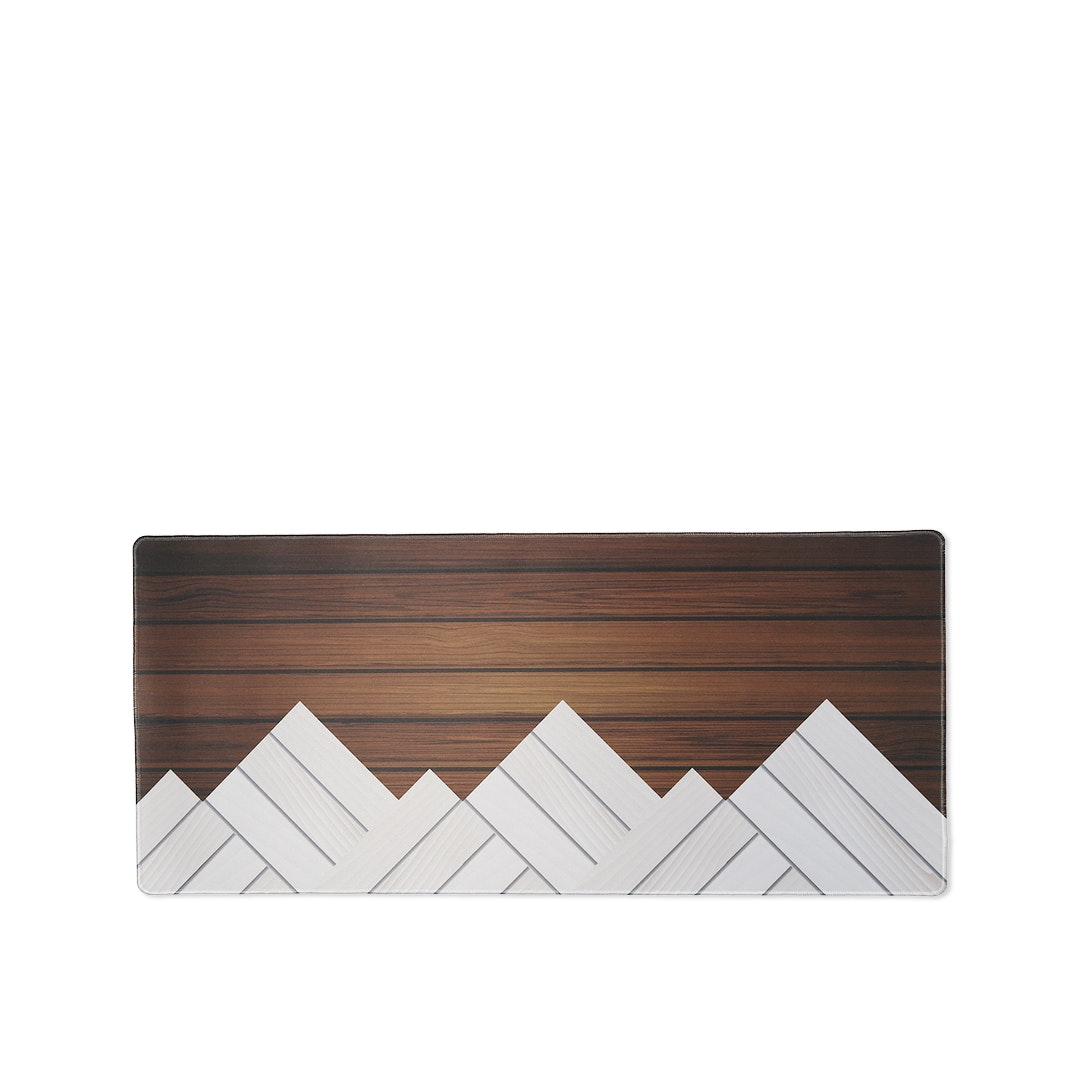 NovelKeys Woodgrain Desk/Mouse Mat
