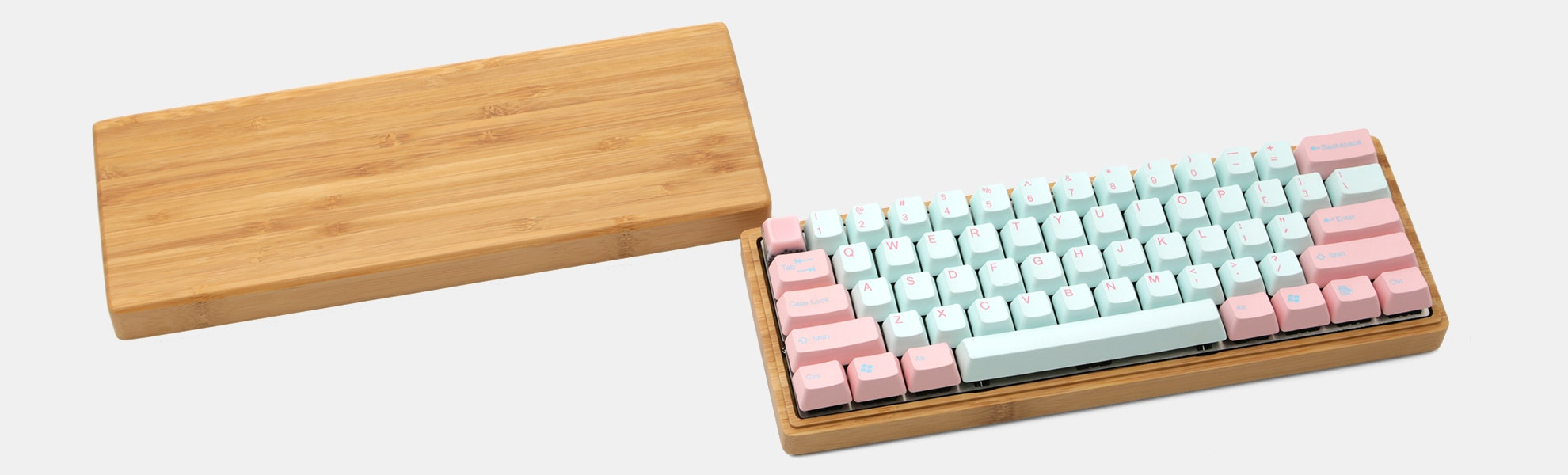 NPKC Bamboo 60% Mechanical Keyboard Case