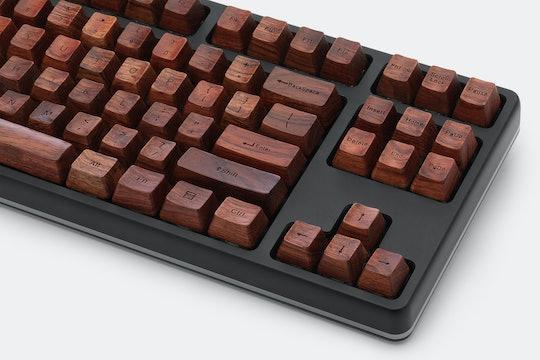 NPKC Engraved Wooden Series 104-Keycap Set