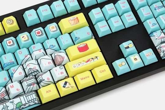 NPKC Sushi PBT Dye-Subbed Keycap Set