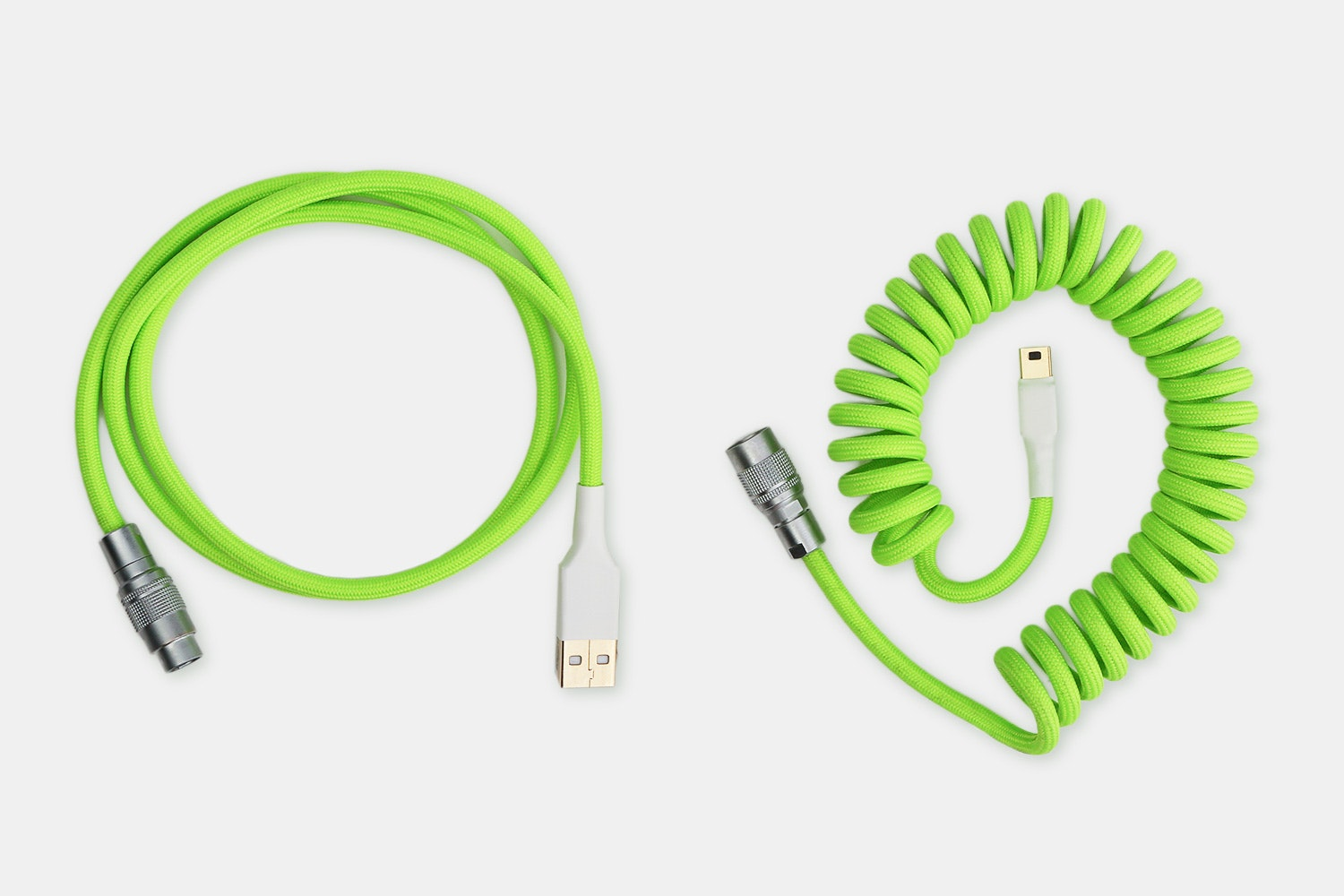 Nylon Mechanical Keyboard PS/2 USB Cables