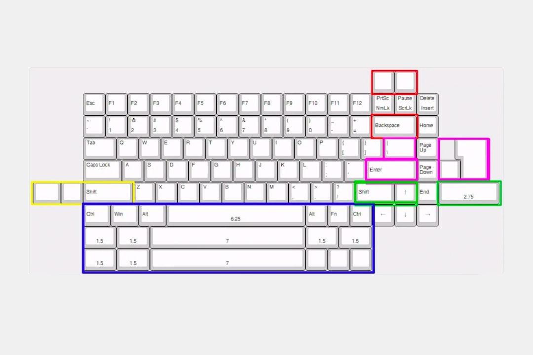 NYM84 75% Aluminum Mechanical Keyboard Kit