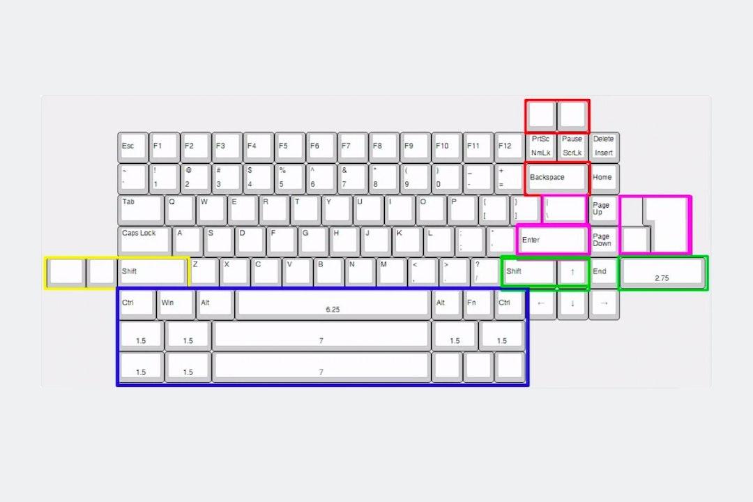 NYM84 Barebones Mechanical Keyboard Kit