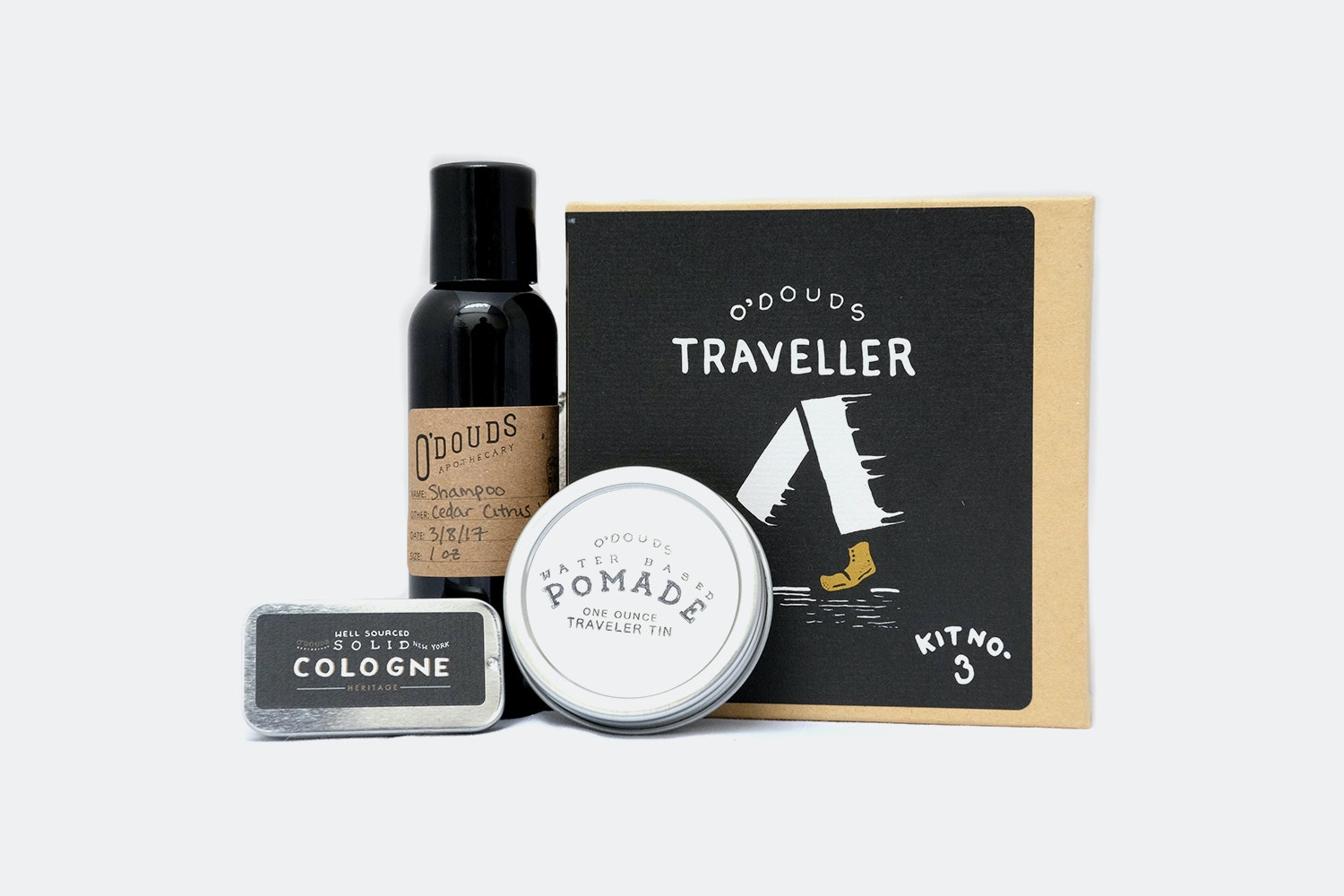 O'Douds Apothecary Grooming Kits