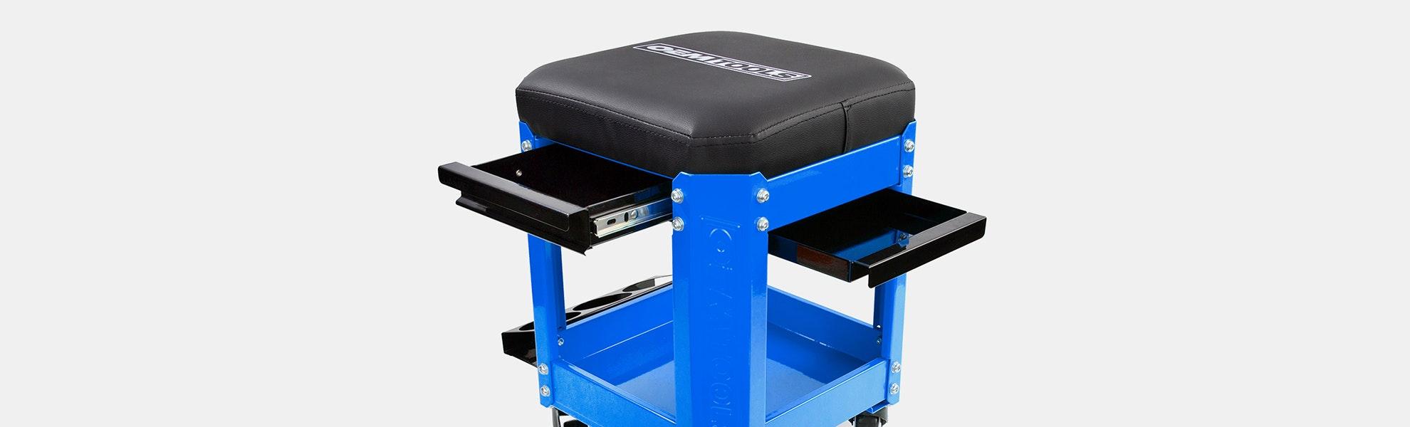 OEM Tools 2-Drawer Workshop Creeper Seat