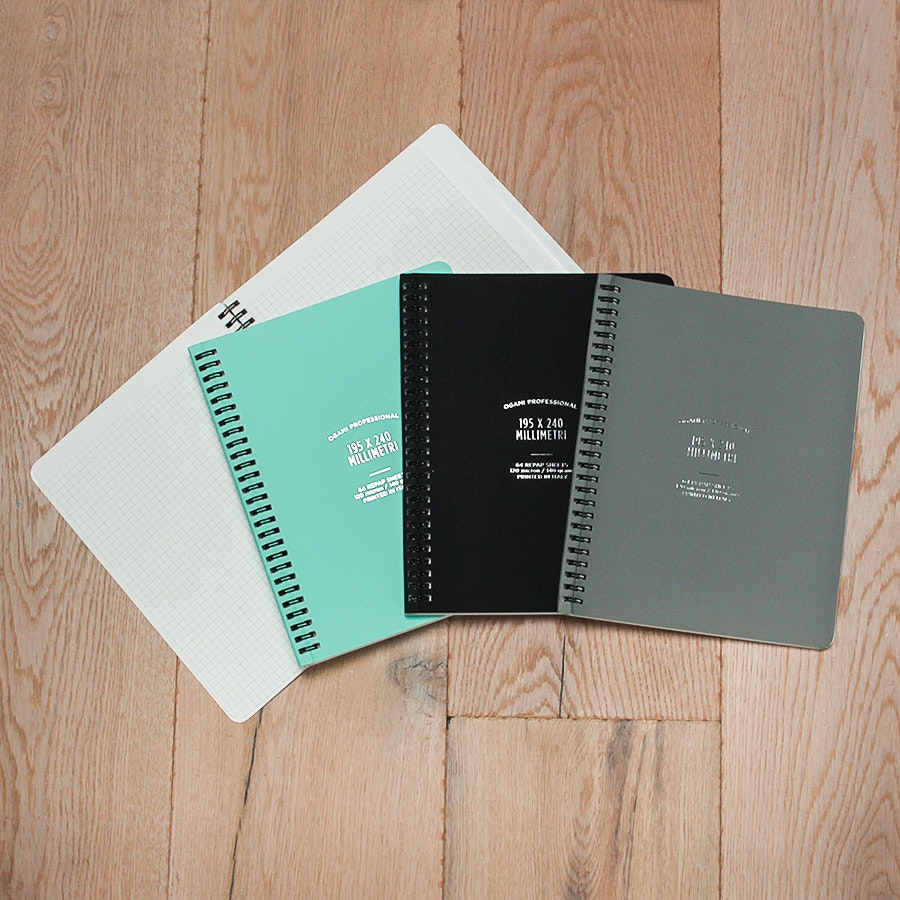 Ogami Spiral Graph Notebook (2-Pack)