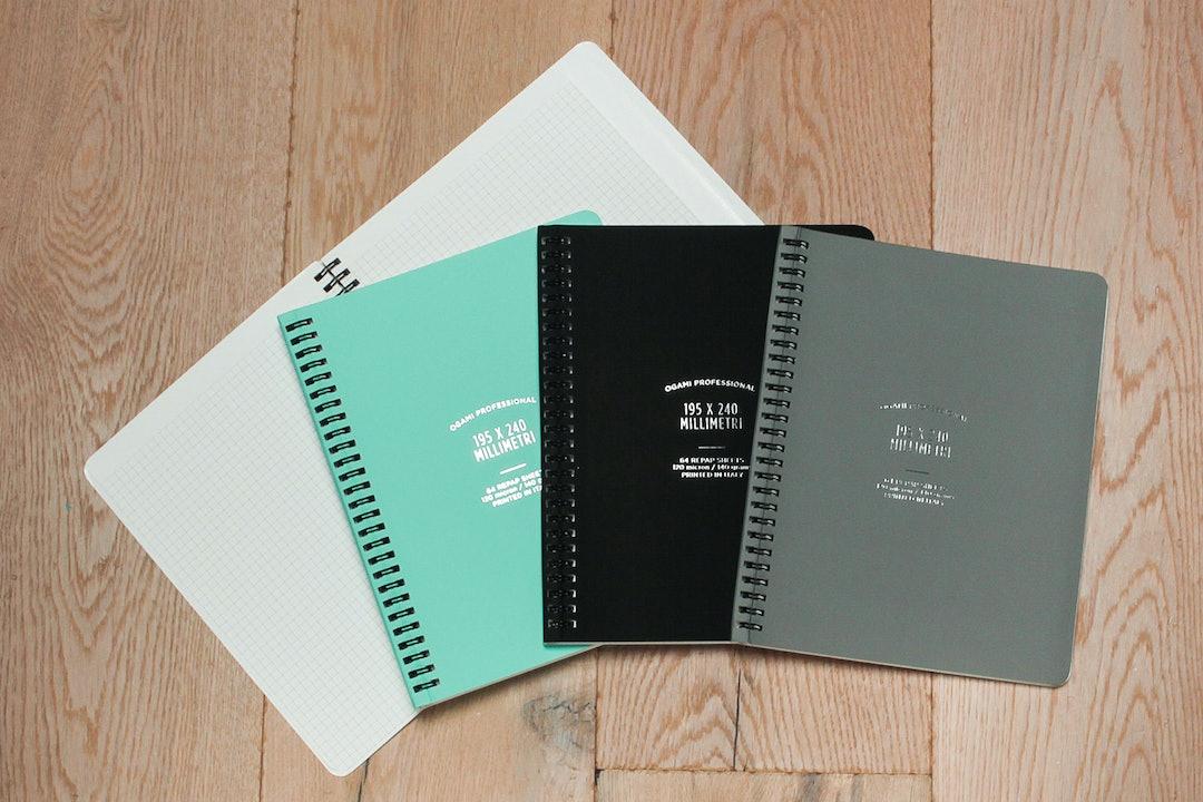 Ogami Spiral Graph Notebook (2-Pack)
