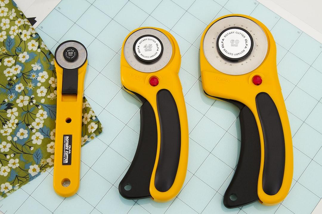 OLFA Deluxe Ergo Rotary Cutter + Blades