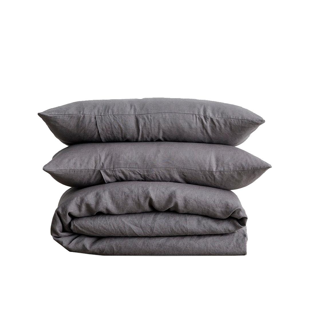 Olive Wren Linen Bedding