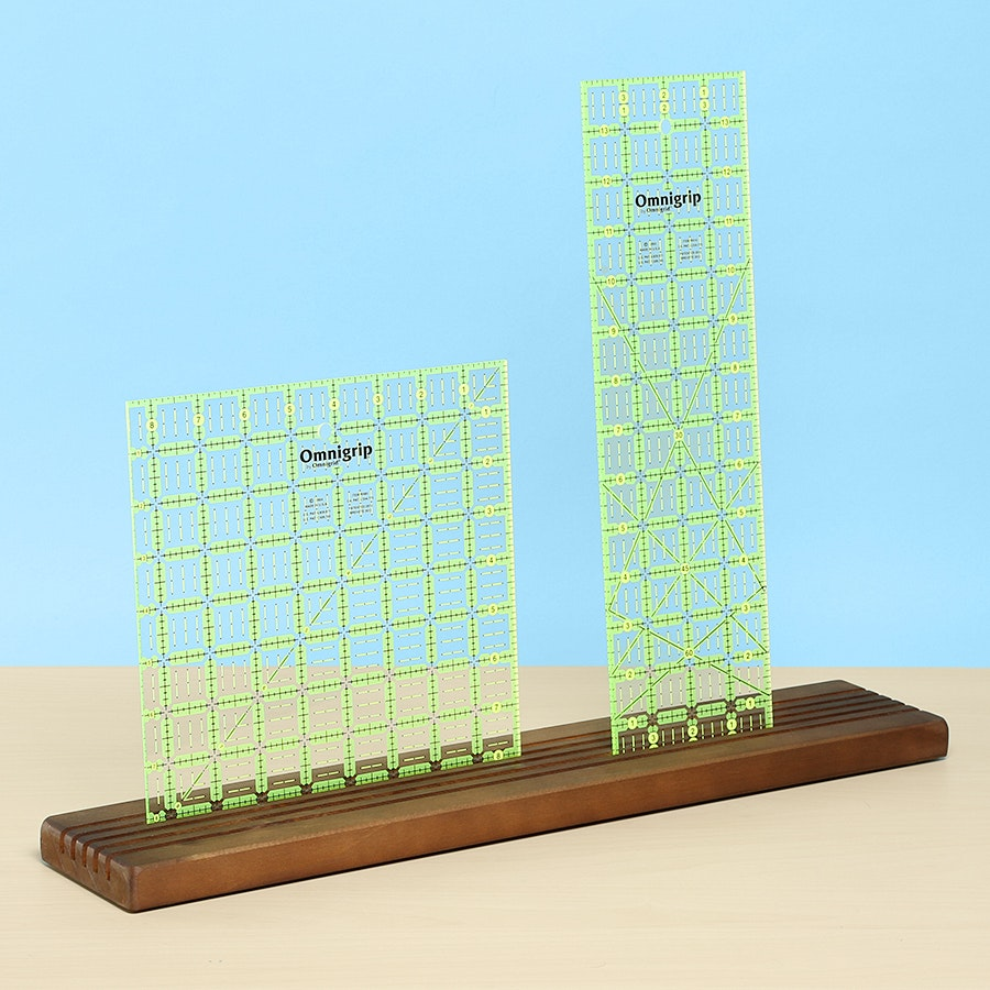 Omnigrid Wood Ruler Holder Bundle