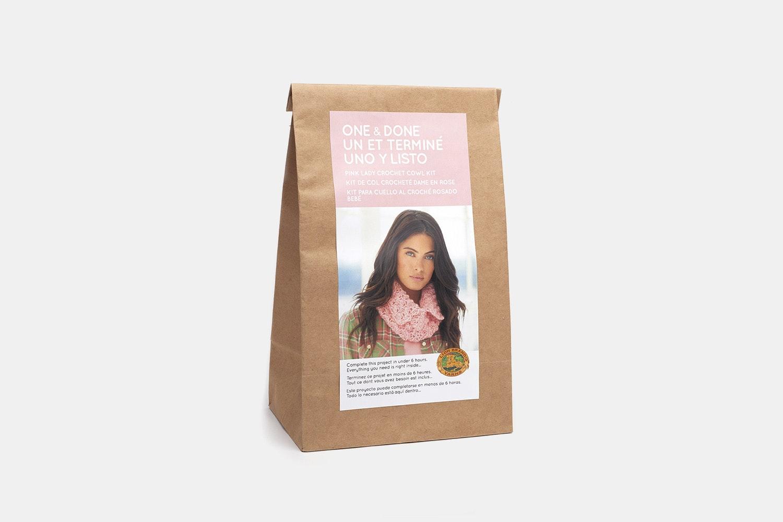 Pink Lady Crochet Cowl Kit