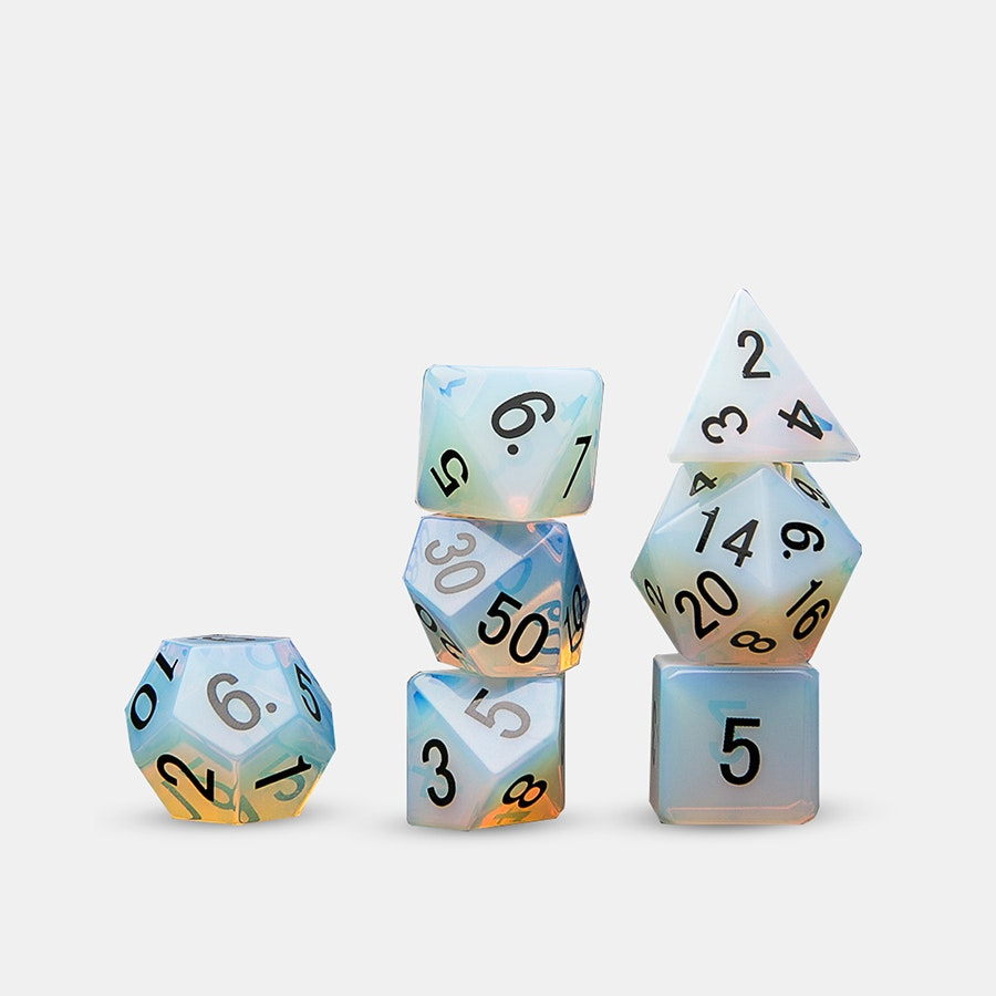 Opalite Polyhedral Dice Set