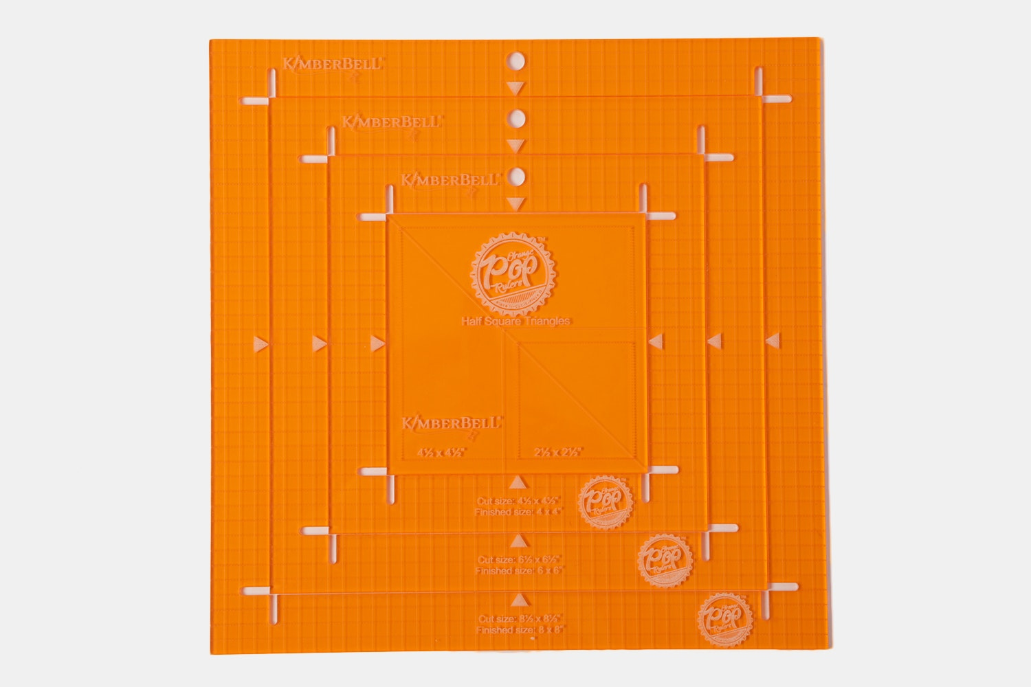 Orange Pop Ruler Set