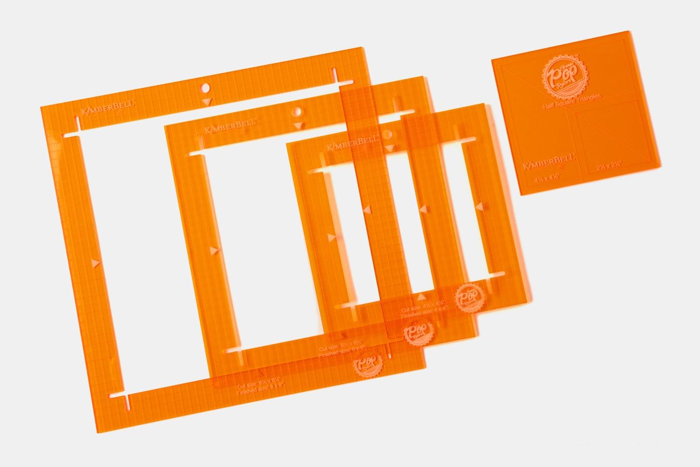 Orange Pop Ruler Set