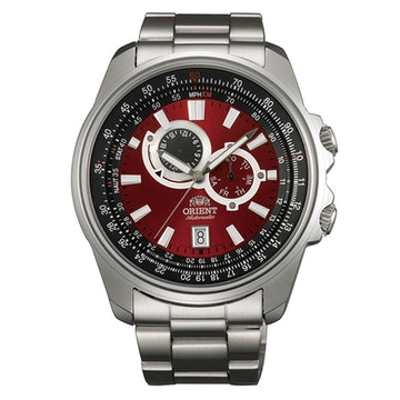 FET0Q003H0 - Stainless steel band, red dial