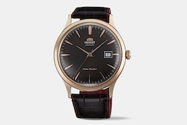 FAC08001T0 | Rose Gold Toned Case, Brown Dial, Brown Leather Strap