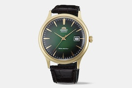 FAC08002F0 | Green Dial, Brown Leather Strap