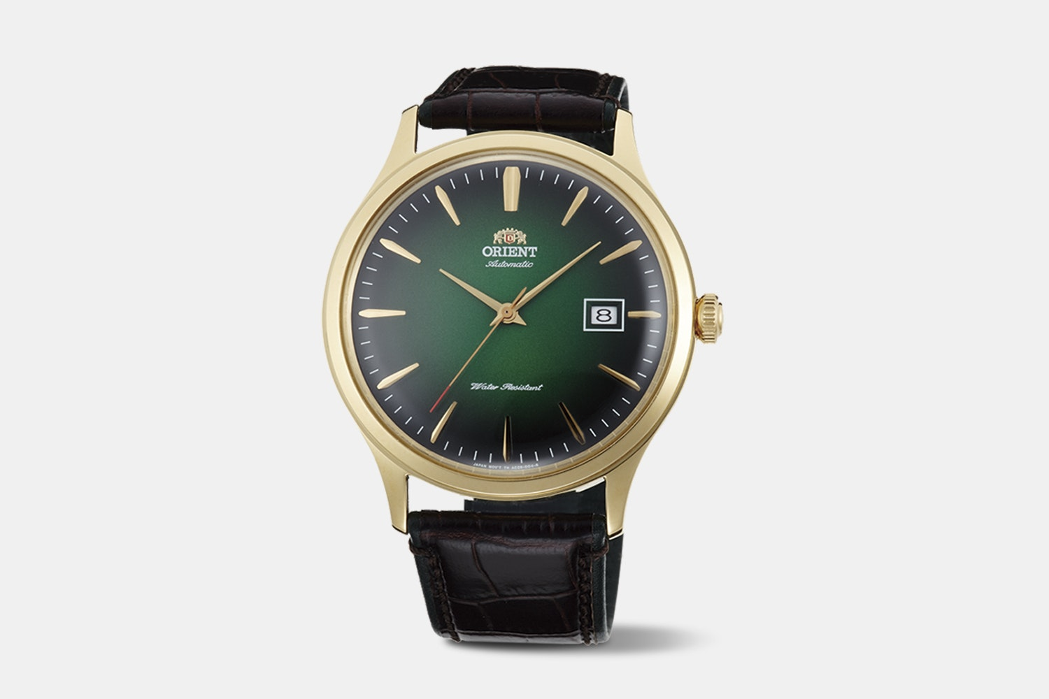 "FAC08002F0 | ""Version 4"" Green Dial, Brown Leather Strap"