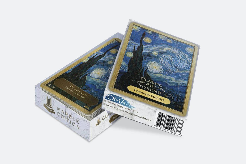 Original Magic Art Premium Marble Edition Token Set