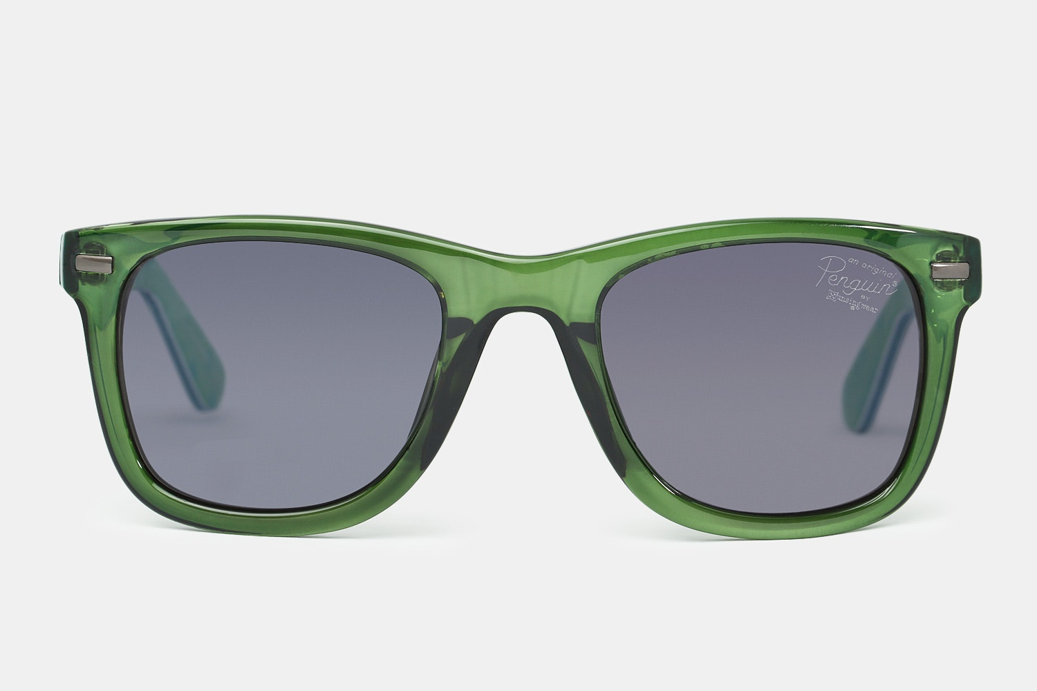 Green frames with gray-green lenses.