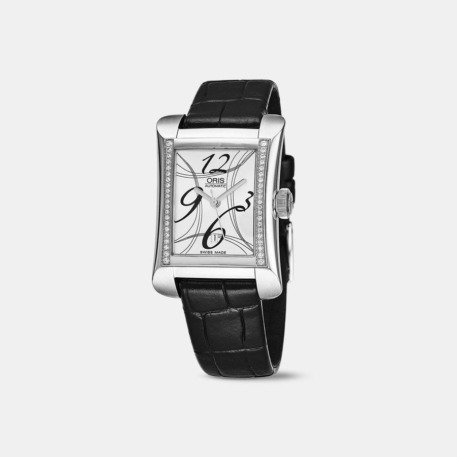 Oris Rectangular Date Diamonds Ladies' Automatic