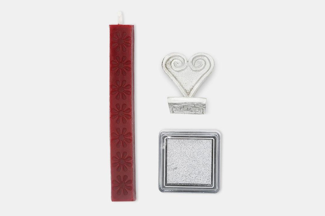 Ornate Alphabet Wax Seal & Ink Pad Set